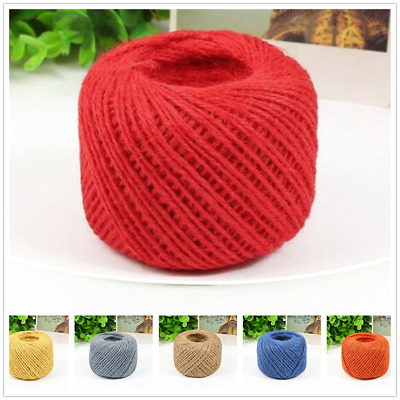 50 metres 2mm Hemp Rope Natural Jute Twine Rustic String Cord Rope DIY String