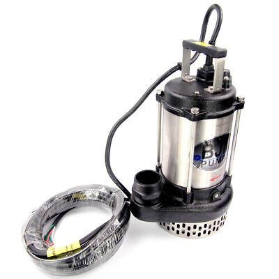 "BJM Pumps J08-230T 1 HP Electric Submersible Sump Pump 230V 2"" NPT 3450 RPM 3-Ph"