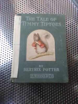 The Tale Of Timmy Tiptoes Beatrix Potter F Ware Co 1911 3500