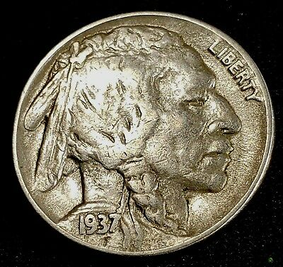 1937-D  BUFFALO NICKEL Indian Head US 5 Cent COIN Maybe D/D ?