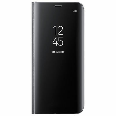 Samsung Galaxy S8 Clear View Standing Cover Case - Black-Glossy