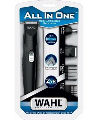 WAHL GROOMING KIT MENS SHAVER Beard Hair Trimmer Clipper Cordless Rechargeable