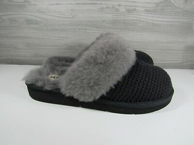 939ab8480ee5f UGG Women's Cozy Knit Black Slippers Sheepskin Indoor Outdoor Shoes Size 8