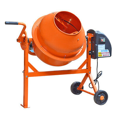 63 LITRE  240V 220W Drum Portable Electric Concrete Cement Mixer Mortar Plaster