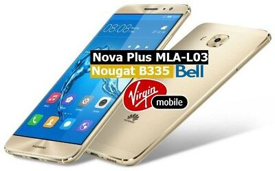 BELL VIRGIN CANADA HUAWEI NOVA PLUS (MLA-L03) UNLOCK CODE ( 1 B uisness Day )