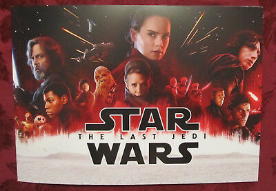 Disney Store 2017 STAR WARS THE LAST JEDI LITHOGRAPH Set 4 Collectible Posters