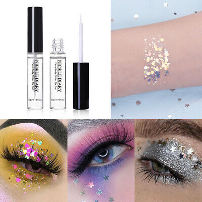 NICOLE DIARY Makeup Adhesive Glue 5g Face Body Glitter Fix Gel Cosmetic Tools