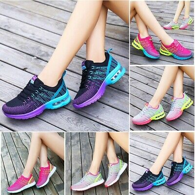 AU Women Fashion Sneakers Breathable Casual Outdoor Running Air Cushion Shoes
