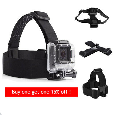 Elastic Adjustable Camera Head Harness Belt Strap Band Mount for Gopro HD Hero