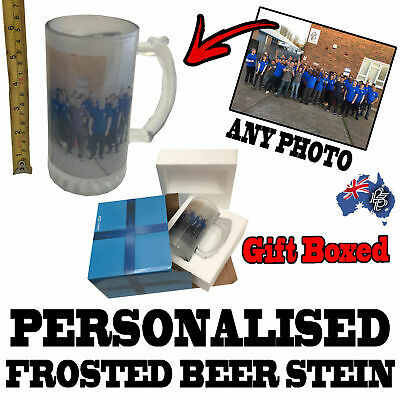 Personalised Frosted Glass Beer Stein -