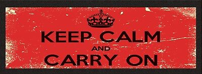 Keep Calm And Carry On bar runner mat beer party drip mat pub birthday gift 123t