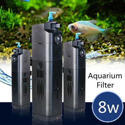 UV Light Aquarium Fish Tank Pump Internal Submersible Pond Aqua Water Filter