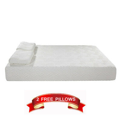 Comfor 10 Inch Cool Medium Firm Memory Foam Mattress Queen 2 Free