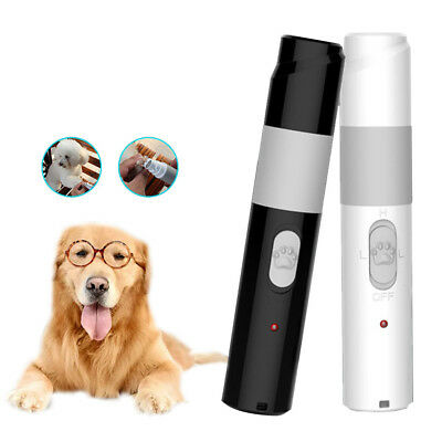 Electric Pet Dog Cat Claw Toe Nail Grooming Trimmer Tool Care Grinder Clipper