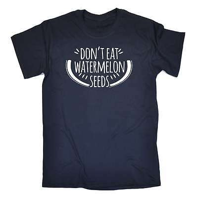 Men's Don't Eat Watermelon Seeds Funny Joke Pregnant Maternity Baby T-SHIRT