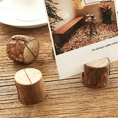 10x Wooden Party Table Number Stand Place Name Card Holder Decoration DecorQR