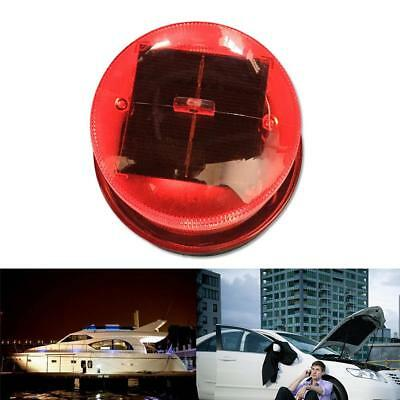 LED Solar Strobe Roadblock Dock Road Work Warning Light Magnet Caution Light