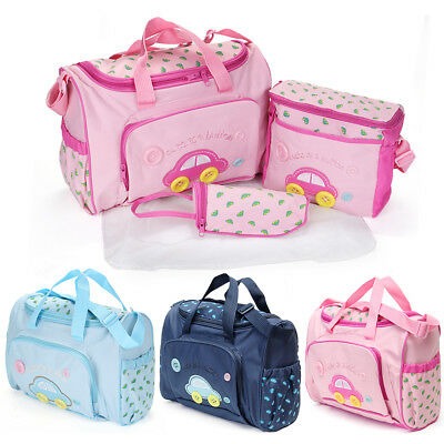 4Pcs Baby Nappy Changing Bag Set Brand New Cute Diaper Bags Colorful UK Seller