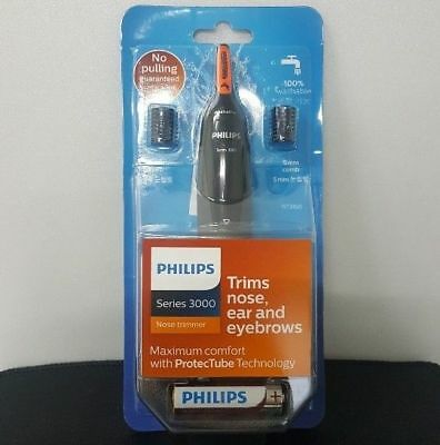 Philips NT3160 Nose Ear Hair Eyebrow Water-Proof Trimmer Series 3000 - Tracking