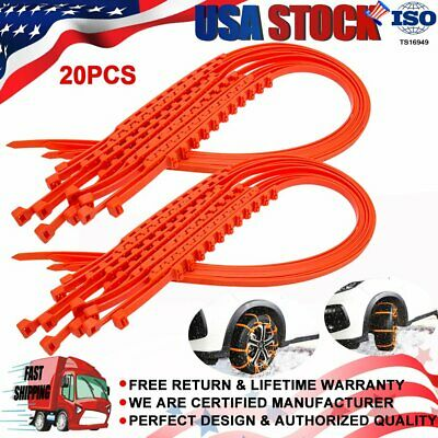 20 PCS New Snow Tire Chain for Car Truck SUV Anti-Skid Emergency Winter Driving