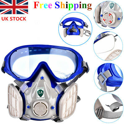 Full Face Anti Dust Respirator Gas Mask Double Filter Air Protection Breathing