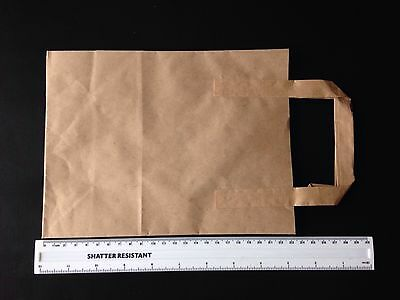Pure Kraft Brown Paper Tape Handle Carrier bags - Small - New