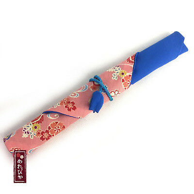 Japanese Wooden Chopstick Cotton Case handmade in Japan for Special Gift