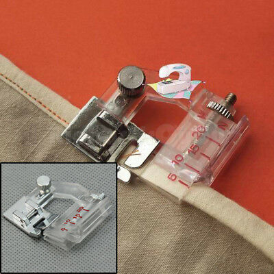 Home Snap-on Adjustable Bias Binder Presser Foot Feet for Sewing Machines New