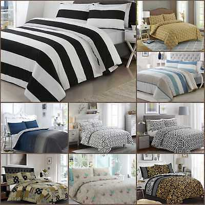 Luxury 100% Egyptian Cotton Printed Duvet Cover Sets Bedding Sets (All Sizes)