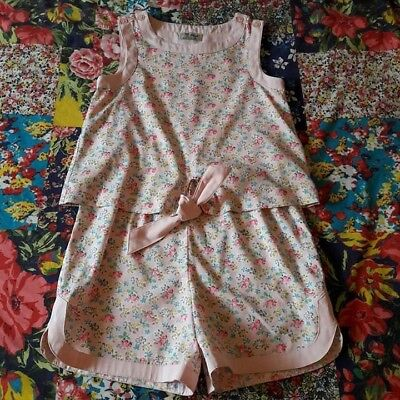 Next Age 7 Girls Summer Ditsy Floral Playsuit Holiday