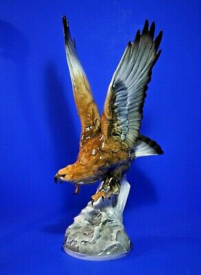 Large Hutschenreuther Porcelain Eagle Bird Figurine Figure 17inches /43.7cm tall