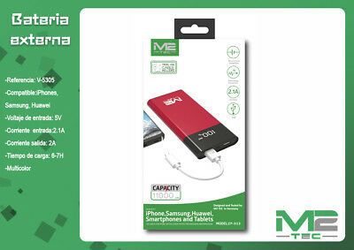Power Bank 11000mAh Batería Externa Universal Para Movil Tablet