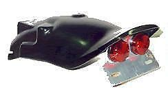 Yamaha V-Max 1200 Rear Mudguard (short tail) with Twin Round Light