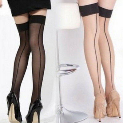 Sexy Women Seamed Back Line Tights Stockings Fashion over knee Stockings TO