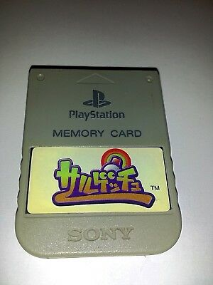 Sony Playstation 1 PS1 Official Memory Card Gray SCPH-1020