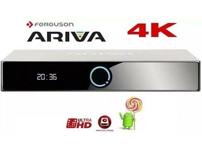 Android Box Ferguson Ariva 4K Decoder Satellitare Uhd Smart Kodi