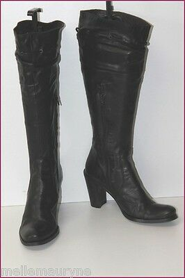 ZERODB Boots heels Black Leather Lined leather T 39 TOP CONDITION