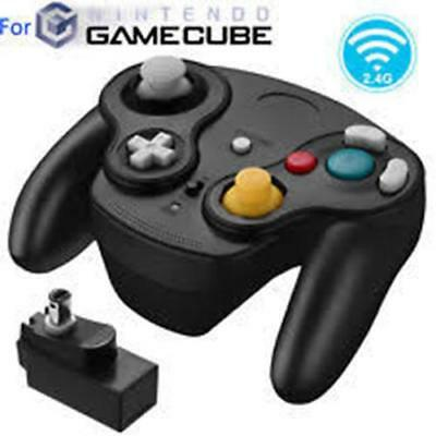 Nintendo GameCube Wii wireless Wavebird game pad controller BLACK 2.4 GHz NEW UK