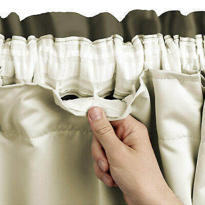 Blackout Thermal Curtain Linings Ready Made 3 Pass Lining Curtain Pencil Pleat