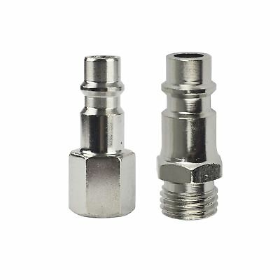 """Euro Air Line Hose Compressor Fittings Connector Male Quick Release 2 PACK 1/4"""""""
