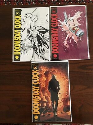 Doomsday Clock 1 (Midnight Var) 3 4 Set Of 3 Comics Gary Frank Covers 1st Prints