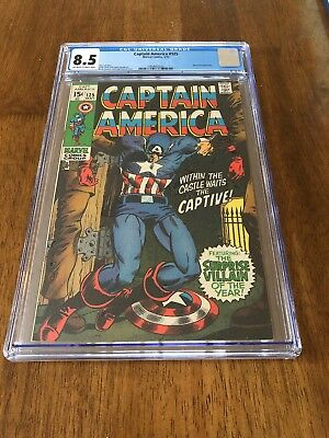 Captain America #125 CGC 8.5 Off-White to White Pages, Mandarin Appearance