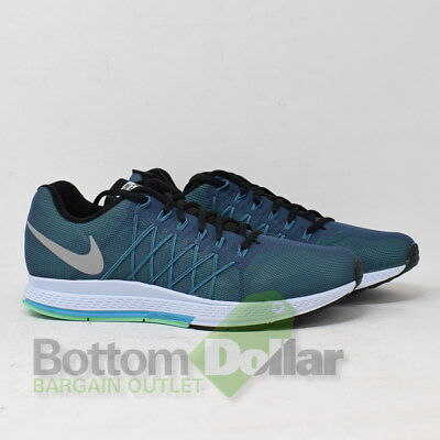 1eaf0eed9ef8 Nike Men s Air Zoom Pegasus 32 Flash Blue Reflective Silver Running Shoes  Sz 9.5