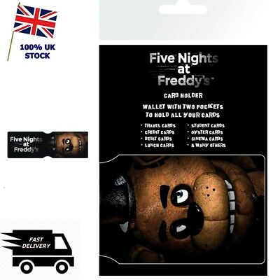 NEW FIVE 5 NIGHTS AT FREDDY/'S Wallet Card Holder Gaming Oyster Travel Pass  ID