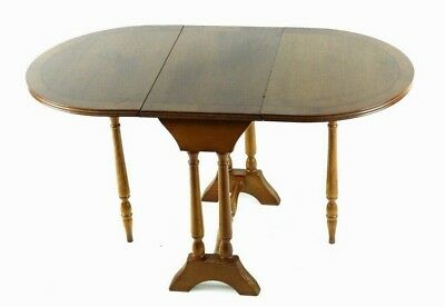 Vintage Yew Sutherland Drop Leaf Coffee or Side Table - FREE Shipping [PL4850]