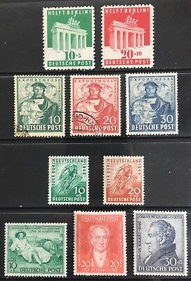 Germany: Allied Occupation 1948-1949 British/US Zone issues MLH/Used