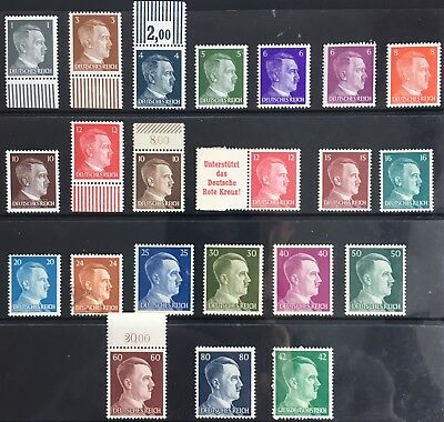 Germany Third Reich 1941-1944 Hitler issues MNH & used (24Pfg)