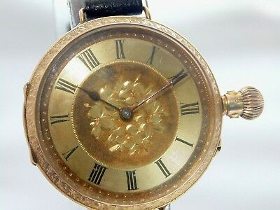 Rare 1908 12ct gold continental pocket watch conversion – serviced, flawless