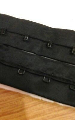 Hook and eye tape black, tape spacing 19mm. Width of each side 25mm. For 25cms.