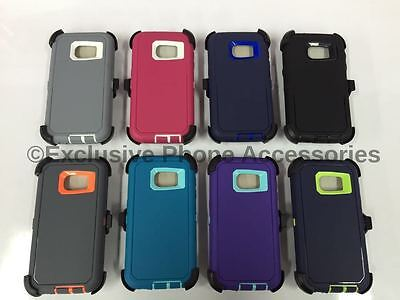 For Samsung Galaxy S7 Case w/Screen Built In [Belt Clip Fits Otterbox Defender]